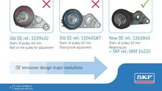 SKF VKM 22242 Timing idler kit
